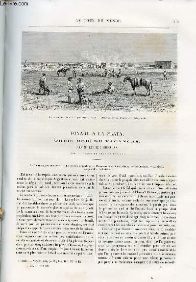 Le tour du monde - nouveau journal des voyages - livraison n°1416, 1417, 1418 et 1419 - Voyage à la Plata, trois mois de vacances par Emile Daireaux (1886).