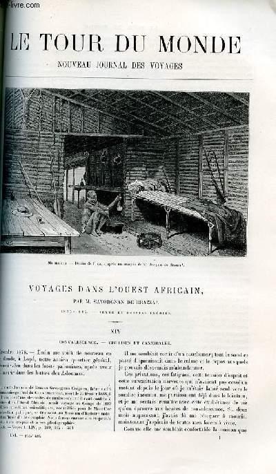 Le tour du monde - nouveau journal des voyages - livraison n°1435,1436, 1437 et 1438 - Voyages dans l'Ouest africain par Savorgnan de Brazza (1875-1887).
