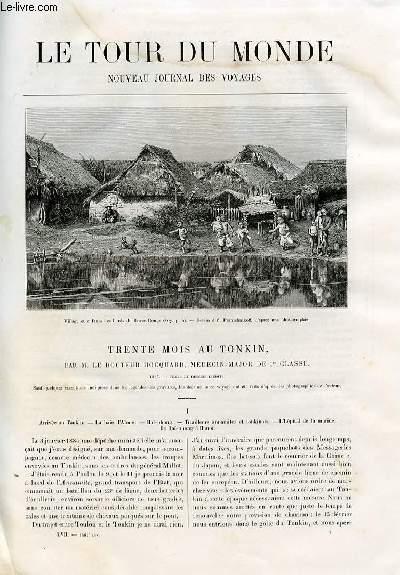 Le tour du monde - nouveau journal des voyages - livraisons n°1461, 1462, 1463 et 1464 - Trente mois au Tonkin par le docteur Hocquard , médecin-major de 1er classe.