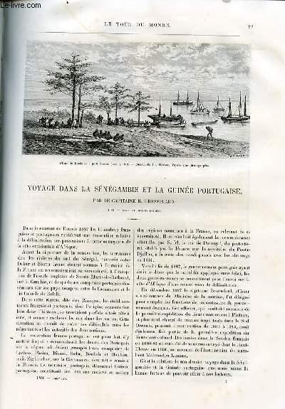 Le tour du monde - nouveau journal des voyages - livraisons n°1467, 1468 et 1469 - Voyage dans la Sénégambie et la Guinée portugaise par le capitaine H. Brosselard.
