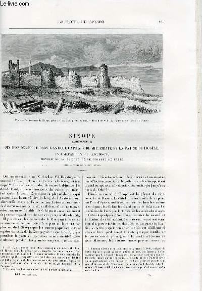 Le tour du monde - nouveau journal des voyages - livraison n°1486 - Sinope (Asie mineure) - six mois de séjour dans l'Antique capitale de Mithridate et la patrie de Diogène par Madame Lydie Paschkoff ; membre de la société de géographie de Paris.