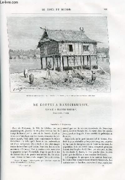Le tour du monde - nouveau journal des voyages - livraisons n°1560 et 1561 - De Koutei à Bandjirmasin - voyage à travers Bornéo, par Carl Bock.