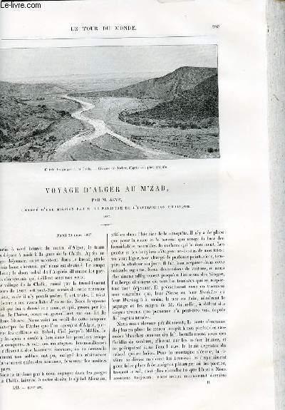 Le tour du monde - nouveau journal des voyages - livraisons n°1583 et 1584 - Voyage d'Alger au M'zab par Zeys, chargé d'une mission scientifique par M. le ministre de l'instruction publique.