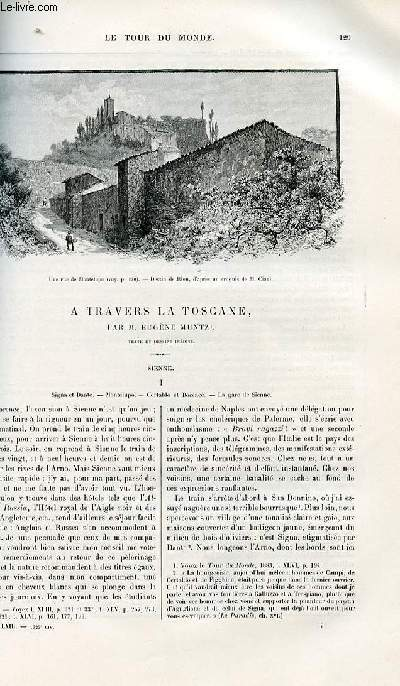 Le tour du monde - nouveau journal des voyages - livraisons n°1625,1626 et 1627 - A travers la Toscane - Sienne par Eugène Müntz.