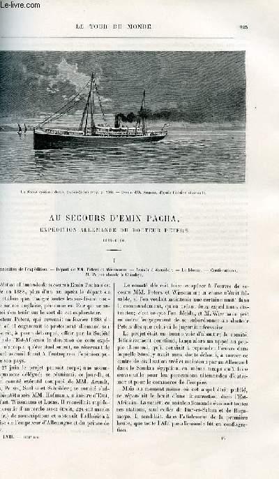 Le tour du monde - nouveau journal des voyages - livraisons n°1631,1632,1633 et 1634 - Au secours d'Emin Pacha - expédition allemande du docteur Peters - 1889-1890.