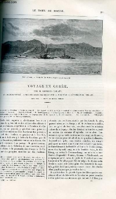 Le tour du monde - nouveau journal des voyages - livraisons n°1635 - Voyage en Corée par Charles Varat , explorateur chargé de mission ethnographiques par le ministère de l'instruction publique.