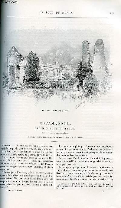 Le tour du monde - nouveau journal des voyages - livraison n°1642 - Rocamadour par Gaston Vuillier - 1891.