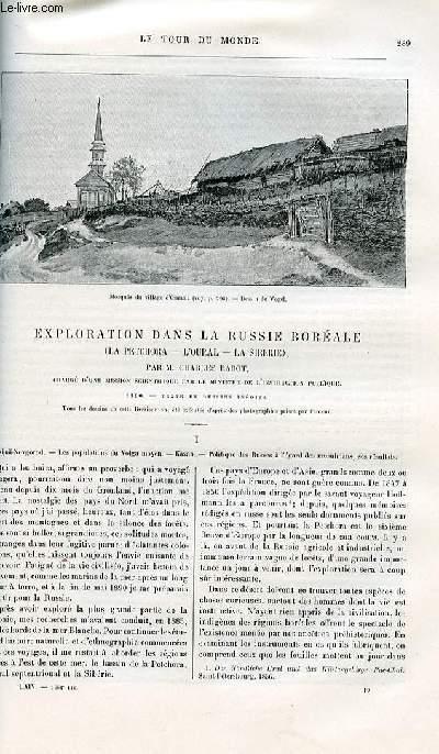 Le tour du monde - nouveau journal des voyages - livraisons n°1661, 1662, 1663 et 1664 - Exploration dans la Russie boréale (la Petchora - l'Oural - la Siébrie) par Charles rabot - 1890.