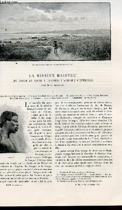Le tour du monde - nouveau journal des voyages - livraison n°1714,1715,1716 et 1717 - La mission Maistre du Congo au Niger à travers l'Afrique Centrale par C. Maistre.