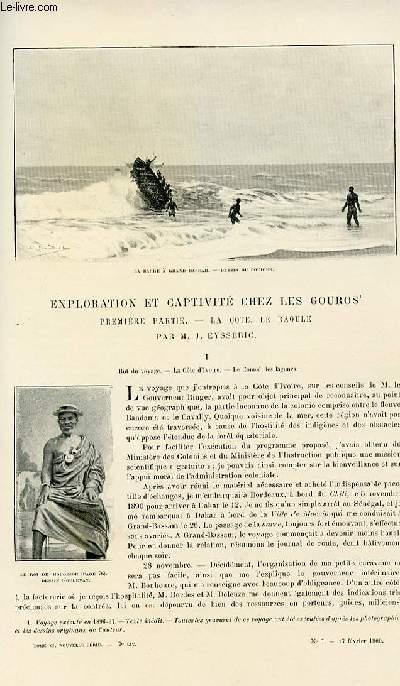 Le tour du monde - journal des voyages - nouvelle série- livraisons n°7, 8 et 9 - Exploration et captivité chez les Gouros.