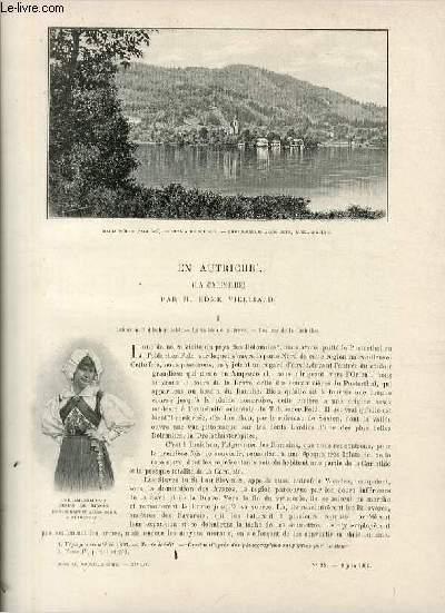Le tour du monde - journal des voyages - nouvelle série- livraisons n°23 et 24 - En Autriche (la Carinthie) par Edme Vielliard.