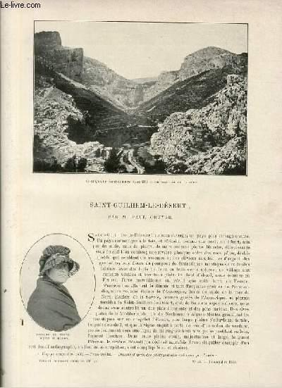 Le tour du monde - journal des voyages - nouvelle série- livraison n°44 - Saint-Guilhem-Le-Désert par Paul Gruyer.