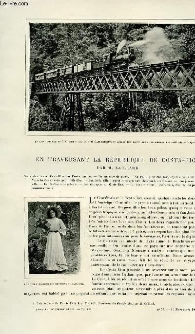 Le tour du monde - journal des voyages - nouvelle série- livraison n°45 - En traversant la République de Costa Rica par Saillard.