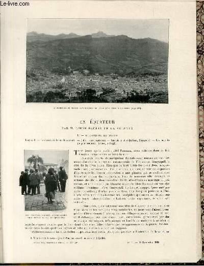 Le tour du monde - journal des voyages - nouvelle série- livraisons n°51 et 52 - En Equateur par M.Louis Baudin de la Valette.