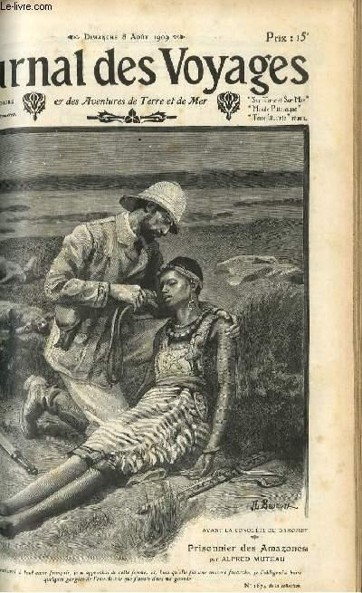 Deuxième série - N°662 - Avant la conquête du Dahomey - prisonnier des Amazones âr Alfred Muteau,à suivre.