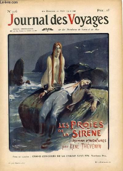 Deuxième série - N°716 - Les proies de la sirène par René Thévenin,à suivre.