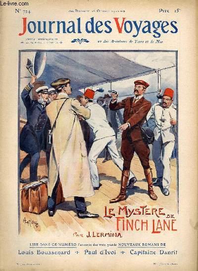 Deuxième série - N°724 - Le mystère de Finch Lane par J. Lermina, à suivre.