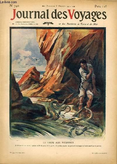 Deuxième série - N°740 - Le trou aux pieuvres par Maurice Dekobra.