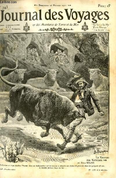 Deuxième série - N°743 - Dans les solitudes mexicaines: le taureau des Toltèques par Emile Solari.