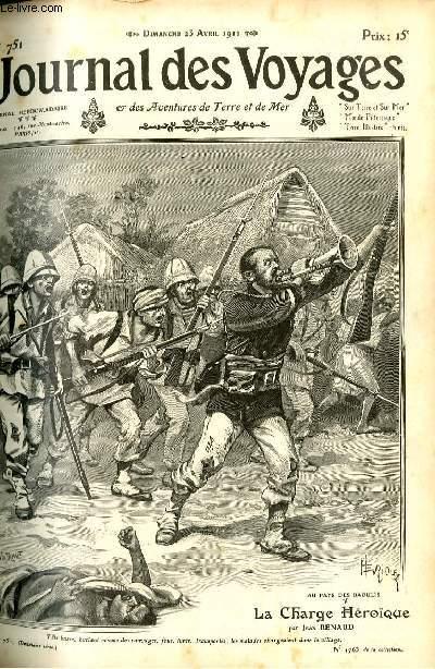 Deuxième série - N°751 - Au pays des Baoulis - la charge héroïque par Jean Renaud.