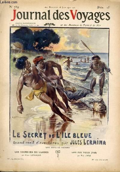 Deuxième série - N°759 - Le secret de l'île bleue (papous anthropophages) par Jules Lermina, à suivrE.