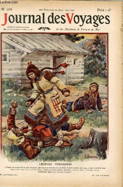Deuxième série - N°768 - Légende toungouse - la femme du chasseur et les diables anthropophages par Pierre de Chimkévitch.