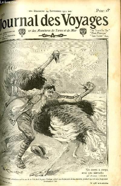Deuxième série - N°773 - Un corps à corps avec une autruche par Maurice Tessier.