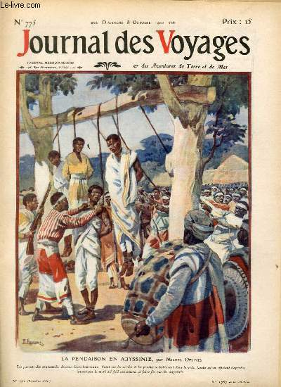 Deuxième série - N°775 - La pendaison en Abyssinie par Michel Delines.