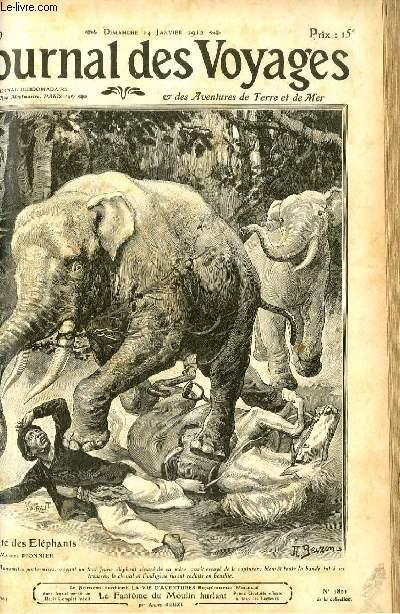 Deuxième série - N°789 - Dans la forêt tonkinoise - à la poursuite des éléphants par Marcel Pionnier.