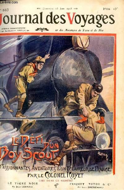 Deuxième série - N°863 - Le défi d'un boy-scout par le colonel Royet,à suivre.