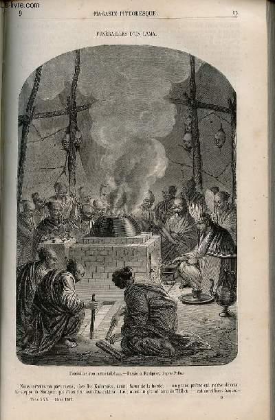 LE MAGASIN PITTORESQUE - Livraison n°009 - Funérailles d'un lama.
