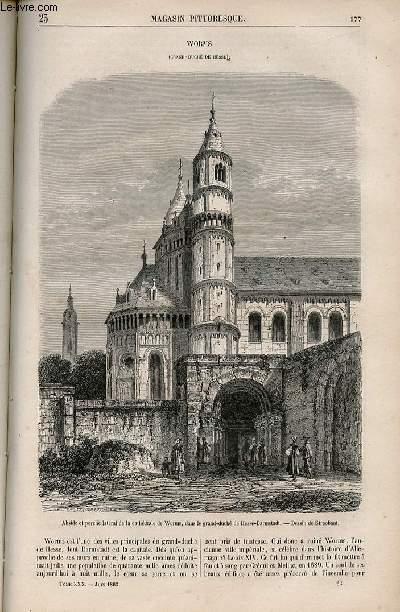 LE MAGASIN PITTORESQUE - Livraison n°023 - Worms (Grand Duché de Hesse).