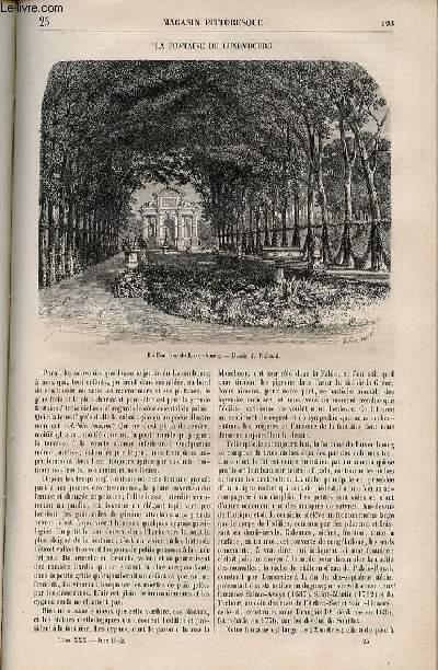 LE MAGASIN PITTORESQUE - Livraison n°025 - La fontaine du Luxembourg.