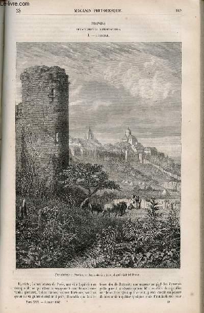 LE MAGASIN PITTORESQUE - Livraison n°028 - Provins (Seine et MArne) - histoire.