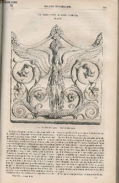 LE MAGASIN PITTORESQUE - Livraison n°029 - Une terre cuite du musée campana.