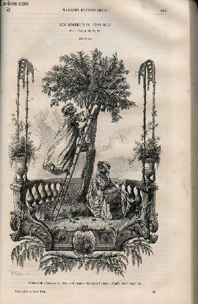 LE MAGASIN PITTORESQUE - Livraison n°032 - Les singeries de Chantilly,suite et fin - Eglogue.