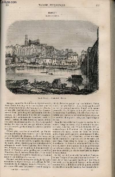 LE MAGASIN PITTORESQUE - Livraison n°033 - Limoges (Haute Vienne).