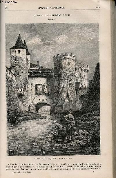 LE MAGASIN PITTORESQUE - Livraison n°034 - La porte des Allemands à Metz (Moselle).