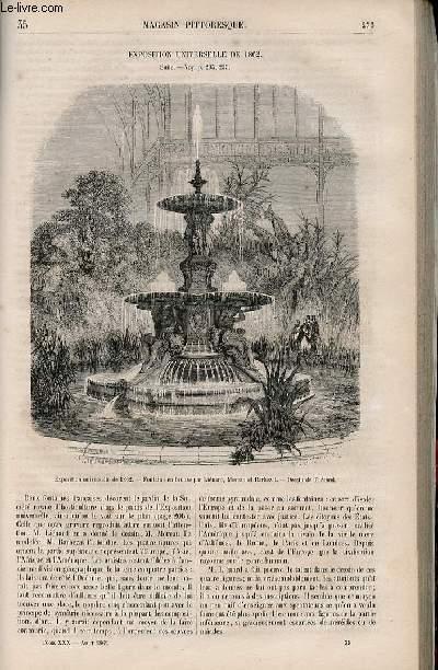 LE MAGASIN PITTORESQUE - Livraison n°035 - Exposition universelle de 1862,suite.