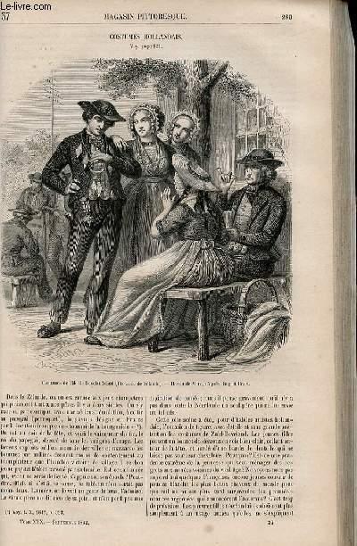LE MAGASIN PITTORESQUE - Livraison n°037 - Costumes hollandais.
