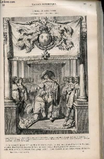 LE MAGASIN PITTORESQUE - Livraison n°040 - L'ordre du Saint Esprit (31 décembre 1578 - 1789 - 1815-1830).