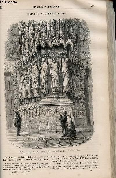 LE MAGASIN PITTORESQUE - Livraison n°042 - Portail de la cathédrâle de Reims.
