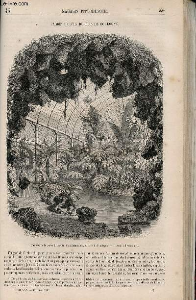 LE MAGASIN PITTORESQUE - Livraison n°043 - Jardin d'hiver du bois de Boulogne.