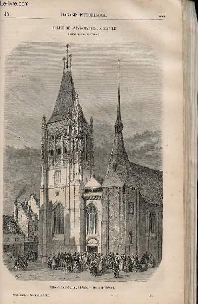 LE MAGASIN PITTORESQUE - Livraison n°045 - Eglise de SAint MArtin à l'Aigle (Orne).