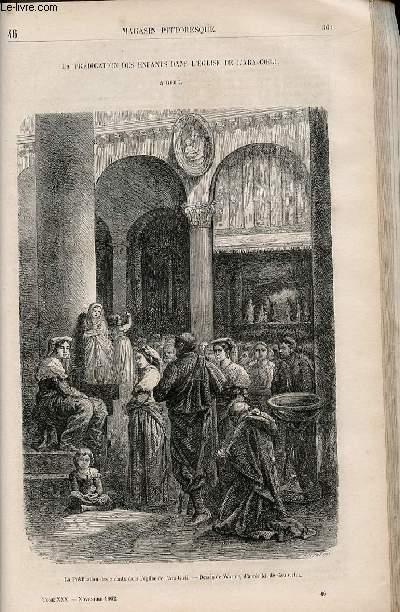 LE MAGASIN PITTORESQUE - Livraison n°046 - La prédication des enfants dans l'église de l'Ara-Coeli à Rome.