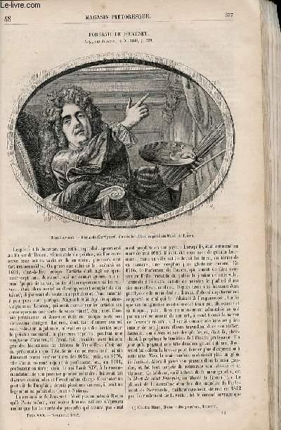 LE MAGASIN PITTORESQUE - Livraison n°048 - ¨Portrait de Jouvenet.
