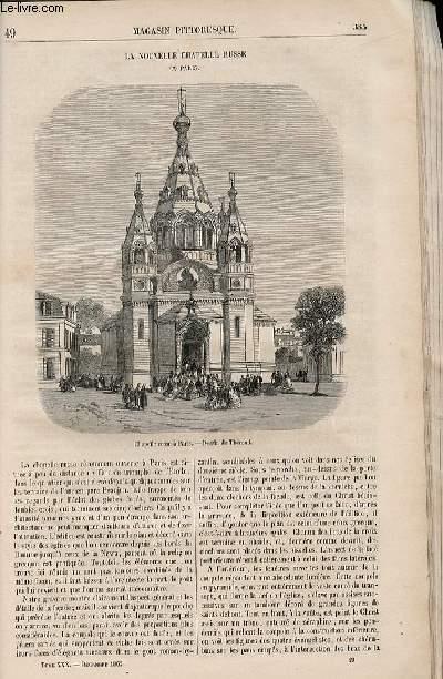 LE MAGASIN PITTORESQUE - Livraison n°049 - La nouvelle chapelle russe.