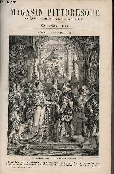 LE MAGASIN PITTORESQUE - Livraison n°001 - Le mariage de Marie de Médicis.
