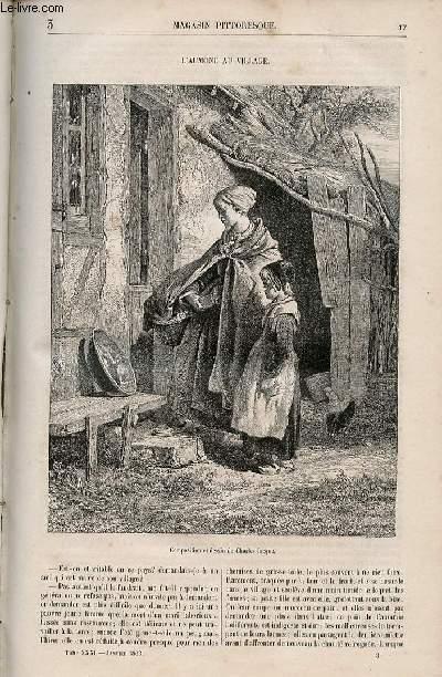 LE MAGASIN PITTORESQUE - Livraison n°003 - L'aumône au village.