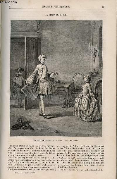 LE MAGASIN PITTORESQUE - Livraison n°004 - La leçon de danse.